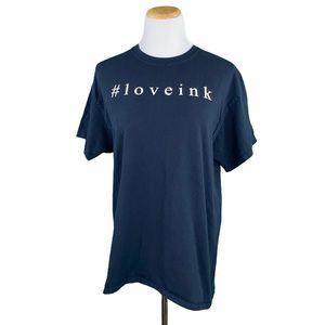 Black #loveink Short Sleeve Gildan Tee
